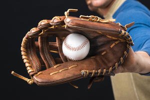 close-up-baseball-glove