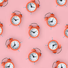 many-coral-red-alarm-clock-1
